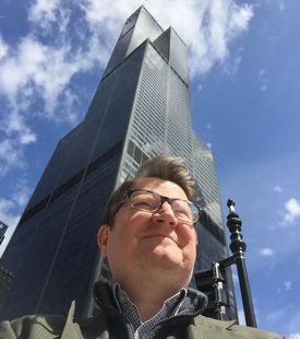 Jim in front of Willis Tower